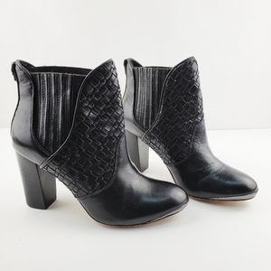 ELLIOT LYCCA | black braided steel toe booties